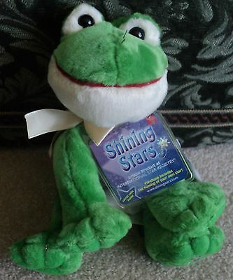 """Russ Berrie Shining Stars 8"""" Frog New With Code"""