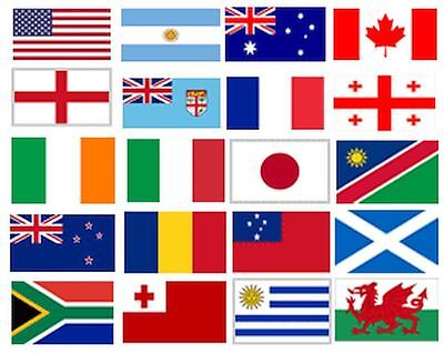 2015 Rugby World Cup Bunting, 7m, 25 Flags, All Competing Nations