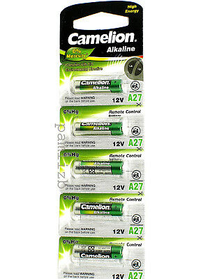 A27  12V Camelion Plus Alkaline High Energy  batteries L828 MN27 27A battery x 5