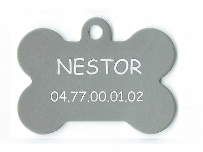 medaille gravee chien ou chat - modele grand os neptune - argent