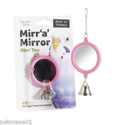 Sharples N Grant Ruff N Tumble Mirr A Mirror Bird Toy Bell