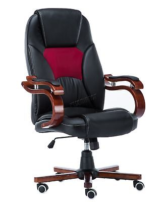 FoxHunter Computer Executive Office Desk Chair PU Leather Swivel OC02 Black New