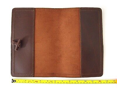 NEW! Genuine Saddleback Leather BIBLE COVER WITH CLOSURE Size Medium in Chestnut