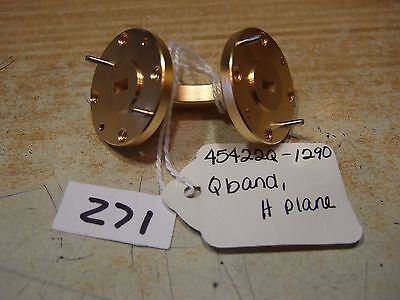 Waveguide Elbow - 90 Degrees, Q Band H Plane W22 - Gold - New