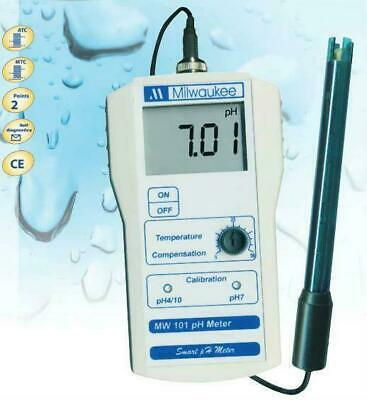 Milwaukee Mw101 Smart Portable Ph Meter Tester, Se220 Probe & Calibration Fluid