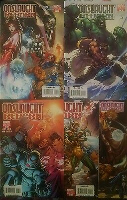 Complete Onslaught Reborn 1 2 3 4 5 all variant covers VF/NM first printings