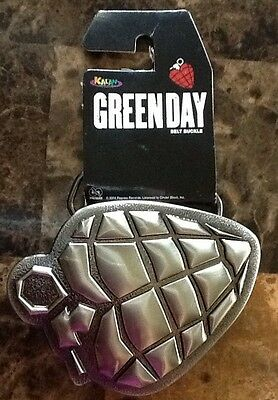 Official Green Day American Idiot Heart Hand Grenade Metal Belt Buckle