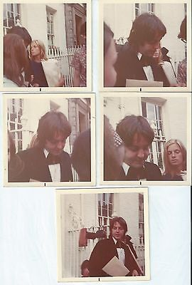 BEATLES PAUL McCARTNEY LOT OF 5 COLOR UNPUBLISHED PICS FROM '68 / '69!!