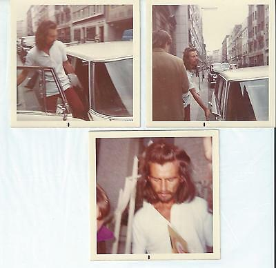 Beatles George Harrison Lot Of 3 Unpublished Color Pictures From 1968 / 1969!!