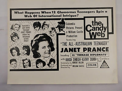 13 FRIGHTENED TEENAGERS by William Castle Productions Lobby Card Full Set 1963