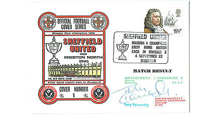 Official Football Cover Series No.1 - Sheffield United -SIGNED by TONY KENWORTHY