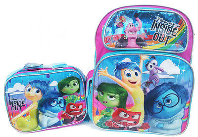 """Disney Inside Out 16/"""" Large School Backpack Lunch Bag 2pc"""