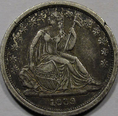 1839 Seated Liberty Dime. CHOICE AU. RARE FIND IN THIS ORIGINAL CONDITION! NICE*
