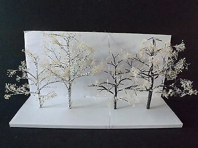 "Dept 56 Seasons Bay ""winter Trees""  - 4Pc - #53384 - New In Box"