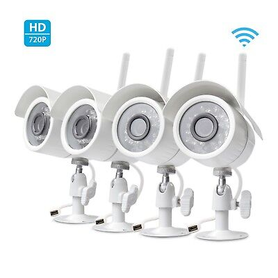 Zmodo Wireless Security Camera System (4 pack) Smart IP HD Outdoor WiFi  Cameras