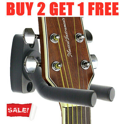Wall Mount Guitar Hanger Stand Holder Rack Display Acoustic Electric Hooks Hot