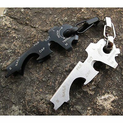 New Outdoor Multi Tool Key Clip Hook Keychain Portable Camping Hiking Hardware