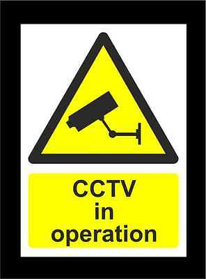 CCTV In Operation Signs - All Materials & Sizes - Security Surveillance Warning