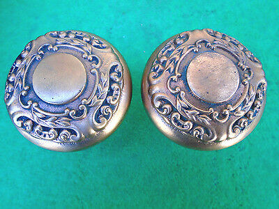SET of HEAVY SOLID BRASS VICTORIAN  KNOBS - BEAUTIFUL     (4292-A)