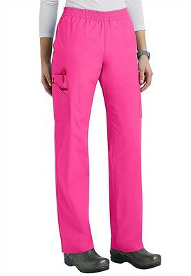 65200eed330 Dickies Medical Scrub EDS Signature Hot Pink Elastic Waist Pant Sz XS-4XL  NWT
