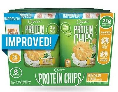 Pack of 3 Quest Nutrition Low Carb Protein Chips Sour Cream & Onion, Gluten Free