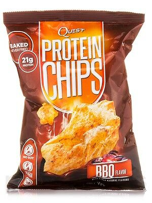 Pack of 3 Quest Nutrition Low Carb Protein Chips BBQ - 32 g, Gluten Free