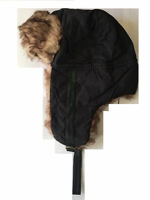 Mens Fur Lined Water Proof Russian Trapper Hat Warm Winter SKI Hat One Size e14753f13a7