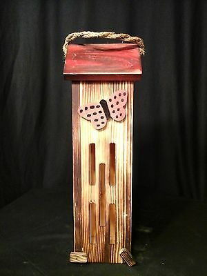Butterfly House Amish Handmade Handcrafted Red Color