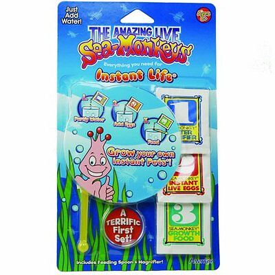 Amazing Sea Monkeys Instant Life Eggs & Food Kit Kids Science and Nature Toy New