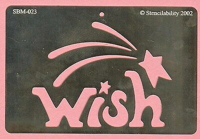 scrapbook card making NEW Wish Upon a Star Stainless Steel Stencil