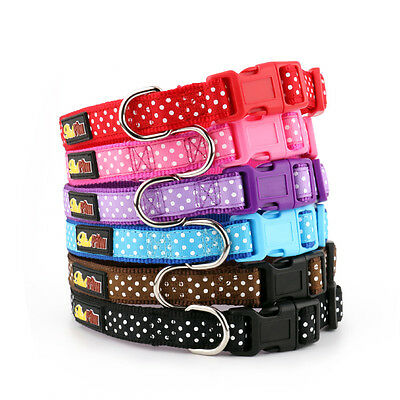 Polka Dot Dog Collar and Matching Lead Set - Puppy and Dog - Spotti by RichPaw