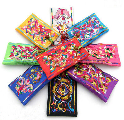 Wholesale30pcs Chines Ethnic Silk Embroiderd Phone Pouches Coin Purse Wallet Bag