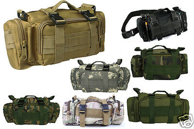 Outdoor Hiking Utility Military Duffle Waist Bag Tactical Molle Assault Backpack