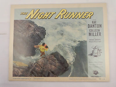 THE NIGHT RUNNER by Universal International Pictures Lobby Card Two Cards 1957