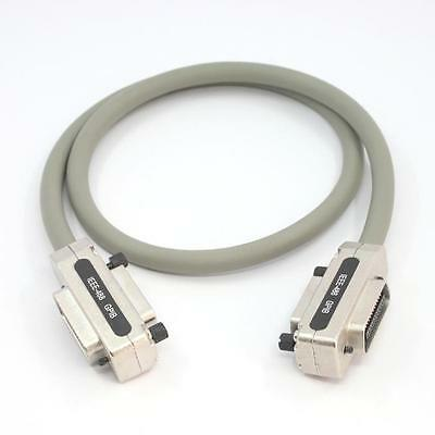 1M IEEE-488 Cable GPIB Cable Grey Color Metal Hood