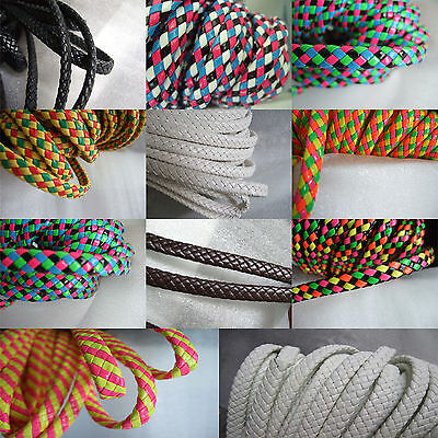 2 Meters 9x4mm PU Braided Synthetic Bolo Leather Cord For Jewellery Craft Making