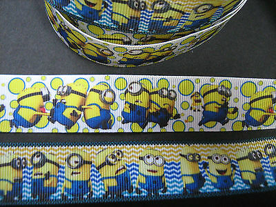 Minion Grosgrain Ribbon  1 METRE  Craft / Sewing /Costume/Cake Making