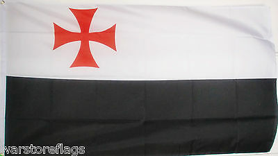 KNIGHTS TEMPLAR FLAG Christian Crusades 5x3 flags Christianity Crusader