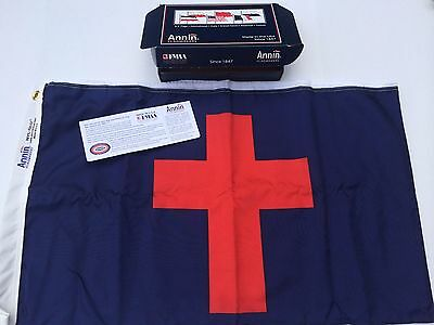 3x5 FT Quality Annin® Christian Flag Nyl-Glo Nylon Certified US Made Item # 425