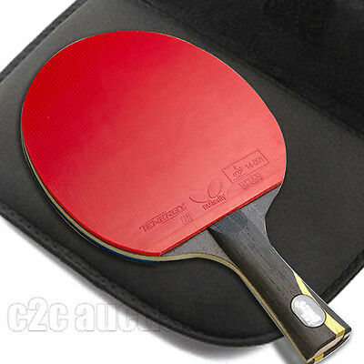 Double Happiness Table Tennis Hurricane Wang Racket Ping Pong Paddle Long Handle