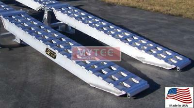 "Aluminum Trailer Loading Ramp Set - Single 8' x 18"" 25,000 lbs capacity"