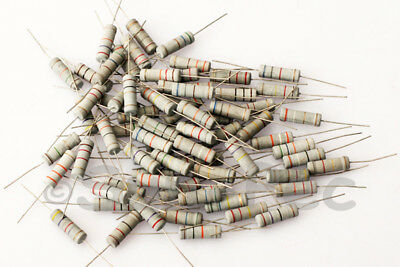 Metal Oxide Resistors 5W +-5% Axial Leads various options 0.1 Ohm - 1M Ohm 3pcs