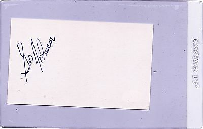 Gus Johnson Signed  On Index Card  Sgc Authentic