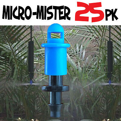 25 PACK - 360° MICRO MISTER Spray Sprinkler Irrigation Watering System Poly Tube