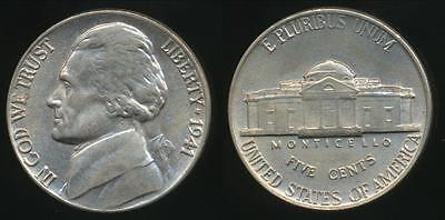 United States, 1941 5 Cents, Jefferson Nickel - Uncirculated