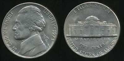 United States, 1973 5 Cents, Jefferson Nickel - Uncirculated
