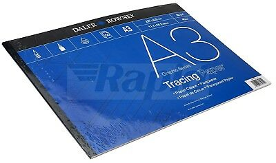 Daler Rowney Artists Graphic Tracing Paper Pad A3 60gsm (50 Sheets)