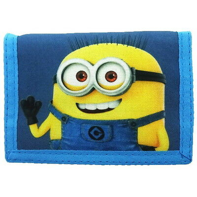 NEW OFFICIAL Despicable Me Minions Boys / Girls / Kids Tri-Fold Coin Wallet