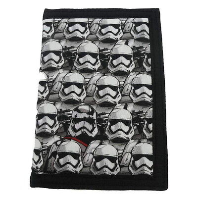 NEW OFFICIAL Star Wars Episode 7 (VII) Boys / Kids Tri-Fold Coin Wallet