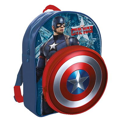 NEW OFFICIAL Captain America Marvel Boys / Kids Backpack / Rucksack / School Bag